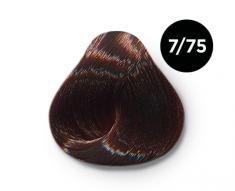 OLLIN PROFESSIONAL 7/75 краска для волос, русый коричнево-махагоновый / OLLIN COLOR 100 мл