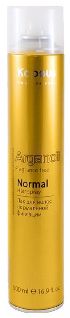 KAPOUS Лак аэрозольный нормальной фиксации, с маслом арганы / Arganoil 500 мл