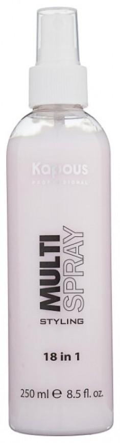 KAPOUS Мультиспрей для укладки волос 18 в 1 / Multi Spray Styling 250 мл
