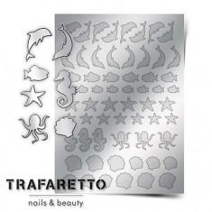 Trafaretto, Металлизированные наклейки Sea-04, серебро