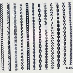 Anna Tkacheva, 3D-стикер №043 «Геометрия. Полоски», черный