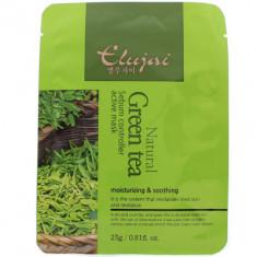 Тканевая маска для лица с зеленым чаем Elujai Sebum Controller Active Mask Green Tea Essence 23 г