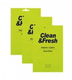 Набор тканевых масок для здорового цвета лица EUNYUL CLEAN&FRESH BRIGHTEN/LIGHTEN SHEET MASK 22мл*3