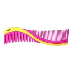 Clarette, Расческа двусторонняя для волос, розовая с желтым