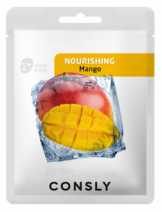 Тканевая маска питательная с экстрактом манго CONSLY MANGO NOURISHING MASK PACK 20мл