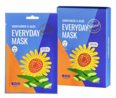Набор масок для лица успокаивающих DEARBOO Sunflower&Aloe 27мл*10шт