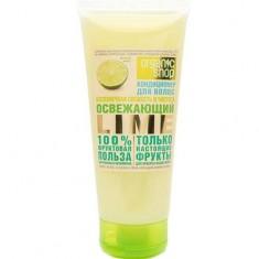 Бальзам для волос освежающий Лайм Фруктовая польза 100 Organic Shop