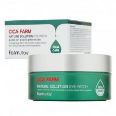 гидрогелевые восстанавливающие патчи для области вокруг глаз с центеллой азиатской farmstay cica farm nature solution eye patch
