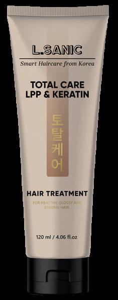 L.SANIC Маска с липопротеиновым комплексом и кератином для комплексного ухода за волосами 120 мл