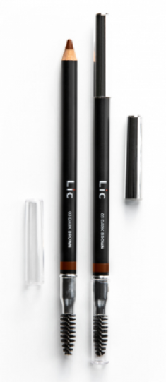 Карандаш пудровый для бровей Lic Eyebrow pencil 03 Dark Brown