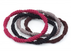 DEWAL BEAUTY Резинки для волос цветные, крученые 4 шт