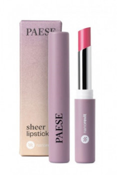 Помада-блеск PAESE SHEER LIPSTICK NANOREVIT 31 Natural Pink