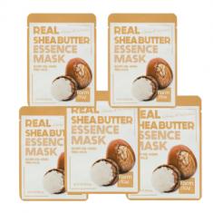 Набор тканевых масок для лица с маслом ши FARMSTAY REAL SHEA BUTTER ESSENCE MASK 23мл*5шт