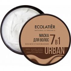 Ecolatier Urban Маска для волос SOS Восстановление 7 в 1 какао и жожоба 380 мл
