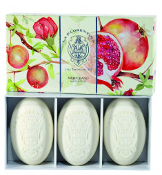 LA FLORENTINA Набор натурального мыла, гранат / Pomegranate 3 х 150 г