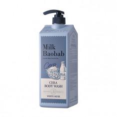 гель для душа с керамидами, с ароматом белого мускуса milkbaobab cera body wash white musk