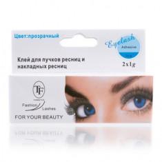TF, Клей Eyelash Adhesive Waterproof, бесцветный, 2х1 г