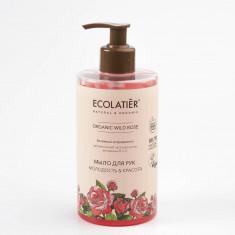 Ecolatier GREEN Мыло для рук Молодость и Красота Дикая роза 460мл