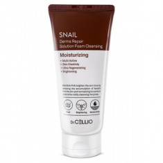 пенка для умывания с улиточным муцином dr.cellio  snail derma repair solution foam cleansing